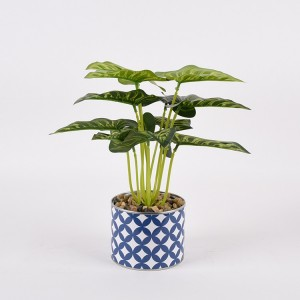wholesale fabric plant potted artificial dieffenbachia plant for indoor decoration