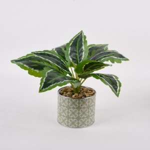 Environmental Friendly outdoor green wholesale artificial plant with pot