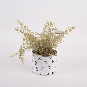 Artificial fern potted plant small artificial fern desktop decoration cheap artificial plant