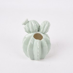 creative ceramic ornaments simulation cactus placed vase living room decoration factory direct sales
