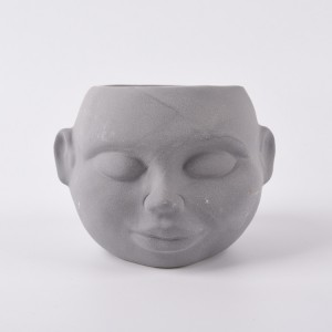 Ceramic Face custom flower pots and planter outdoor clay plant pots