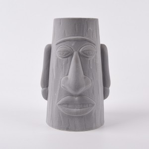 Big ears, big mouth, big nose Round colour Funny Ceramic Face custom flower pots and planter outdoor clay plant pots